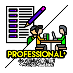IEQ9 Professional Report with Analysis Coaching